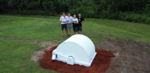 A shot of the archer frs crew haning by the GCH, shot by an unmanned aerial vehicle, of course.