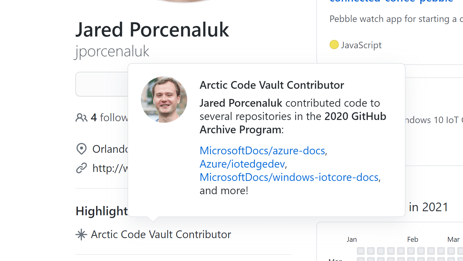 Jared Porcenaluk is an Arctic Code Vault Contributor, and some of the things he's written is stored in a vault above the arctic circle. Technically closer to the North Pole than the Arctic Circle.